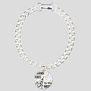 I Love My Grand Kids To Charm Bracelet, One Charm