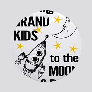 I Love My Grand Kids To The Moon An Round Ornament