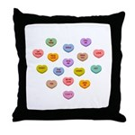 Candy Hearts : Throw Pillow