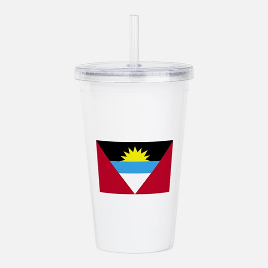 Antigua and Barbuda Fl Acrylic Double-wall Tumbler