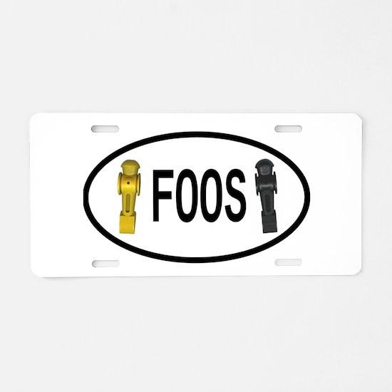 Cute Foosball Aluminum License Plate