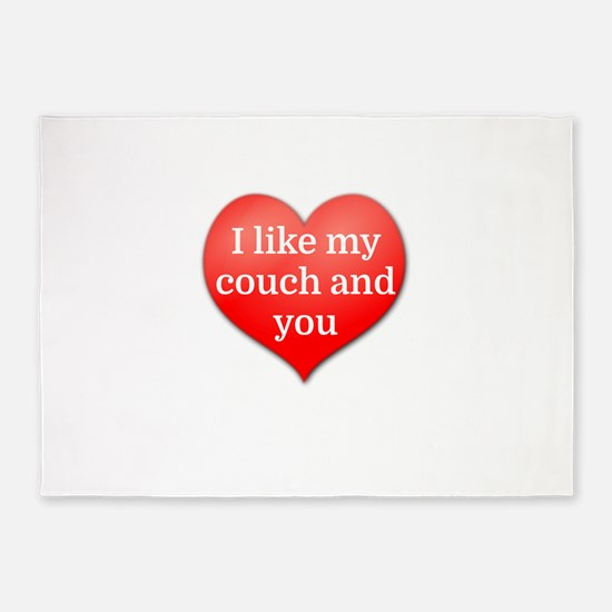 I like my couch and you 5'x7'Area Rug