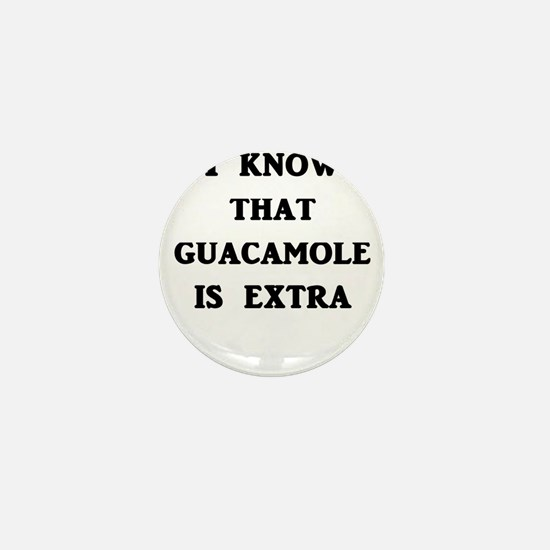 I Know That Guacamole Is Extra Mini Button