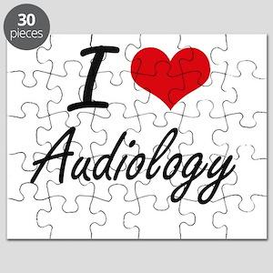 I Love Audiology artistic design Puzzle