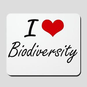 I Love Biodiversity artistic design Mousepad