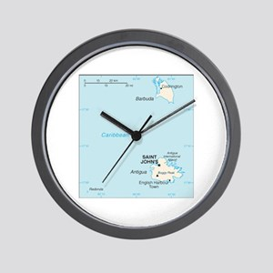 Antigua and Barbuda Map Wall Clock
