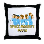 Space Monkey Mafia Crew Throw Pillow