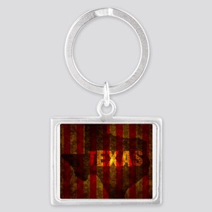 TEXAS red gold vertical Keychains