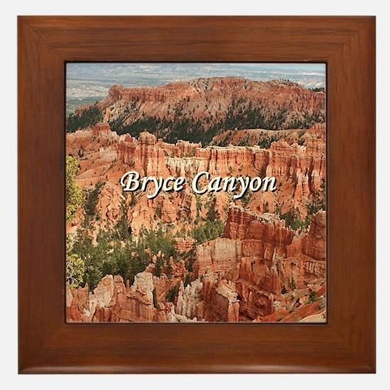 Funny Bryce canyon national park Framed Tile