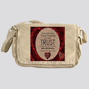 Psalm 9:10 Messenger Bag