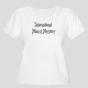 mystery man Women's Plus Size Scoop Neck T-Shirt