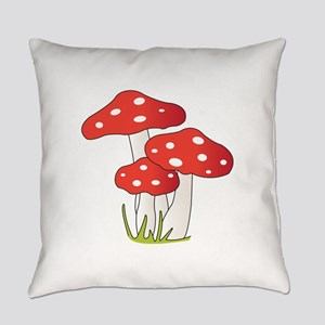 Polka Dot Mushrooms Everyday Pillow