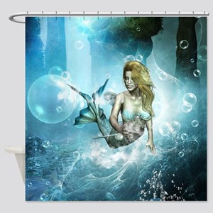Wonderful mermaid Shower Curtain