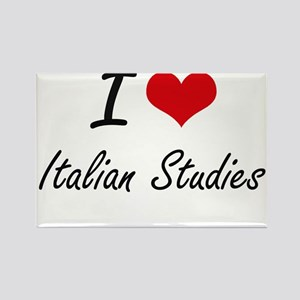 I Love Italian Studies artistic design Magnets