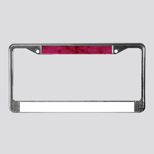 Shattered in Magenta License Plate Frame