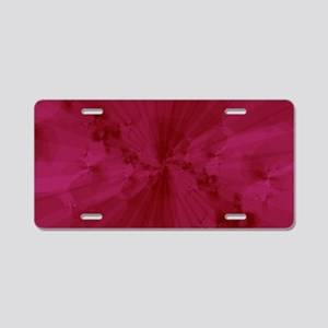Shattered in Magenta Aluminum License Plate