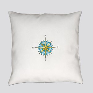 Compass Rose Everyday Pillow