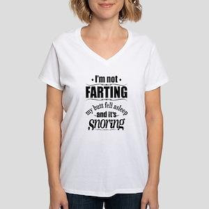 Fart Snoring Women's V-Neck T-Shirt