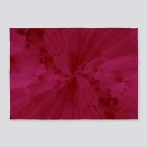 Shattered in Magenta 5'x7'Area Rug