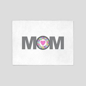 MOM - Charcoal Pink 5'x7'Area Rug