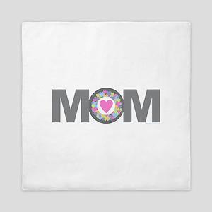 MOM - Charcoal Pink Queen Duvet