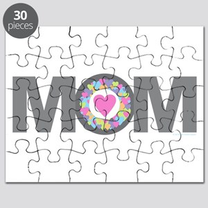 MOM - Charcoal Pink Puzzle
