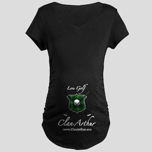 Clan Arthur - Love Golf Maternity Dark T-Shirt