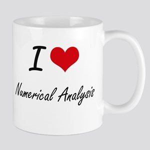 I Love Numerical Analysis artistic design Mugs