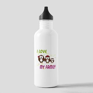 I love my family Water Bottle