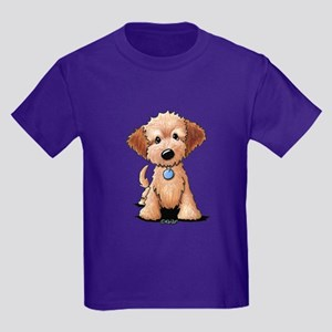 KiniArt Goldendoodle Puppy Kids Dark T-Shirt