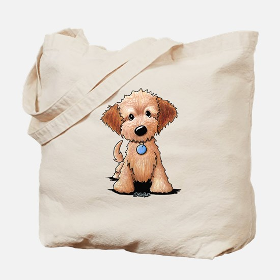 KiniArt Goldendoodle Puppy Tote Bag