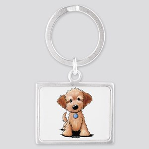 KiniArt Goldendoodle Puppy Landscape Keychain