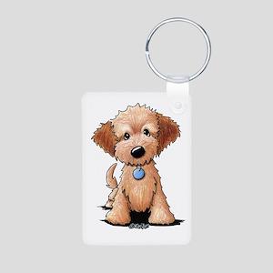 KiniArt Goldendoodle Puppy Aluminum Photo Keychain