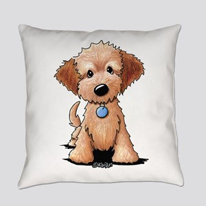 KiniArt Goldendoodle Puppy Everyday Pillow