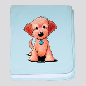 KiniArt Goldendoodle Puppy baby blanket