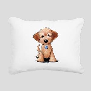 KiniArt Goldendoodle Pup Rectangular Canvas Pillow