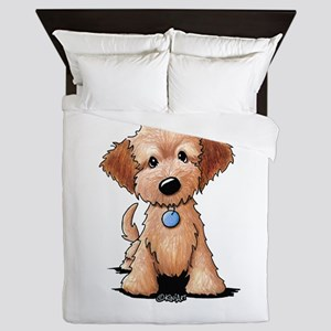 KiniArt Goldendoodle Puppy Queen Duvet