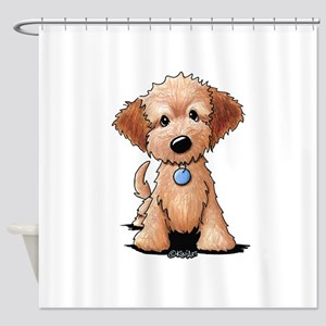 KiniArt Goldendoodle Puppy Shower Curtain
