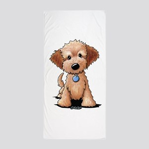 KiniArt Goldendoodle Puppy Beach Towel