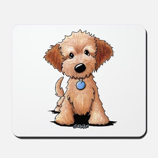 KiniArt Goldendoodle Puppy Mousepad