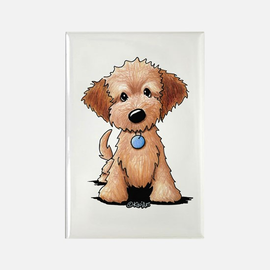 KiniArt Goldendoodle Puppy Rectangle Magnet