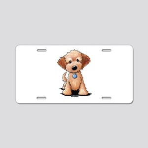 KiniArt Goldendoodle Puppy Aluminum License Plate