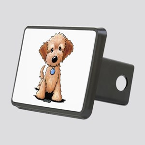 KiniArt Goldendoodle Puppy Rectangular Hitch Cover