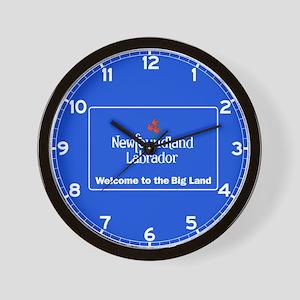 Welcome to Newfoundland & Labrador,Cana Wall Clock