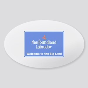 Welcome to Newfoundland & Labrador, Sticker (Oval)