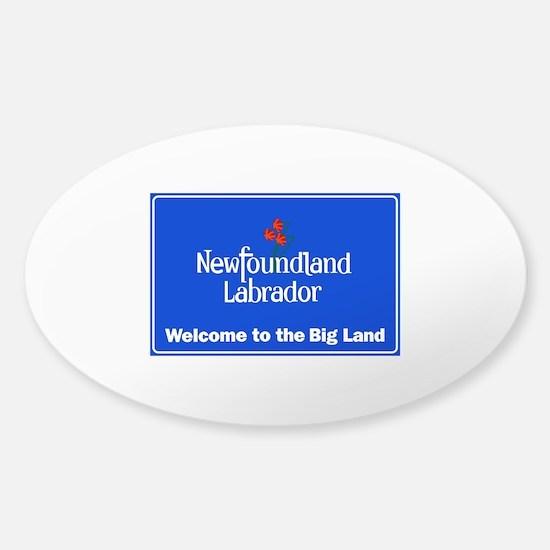 Welcome to Newfoundland & Labrador, Sticker (Oval)