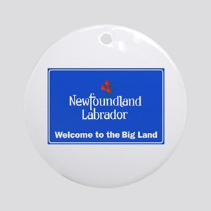 Welcome to Newfoundland & Labrador, Round Ornament