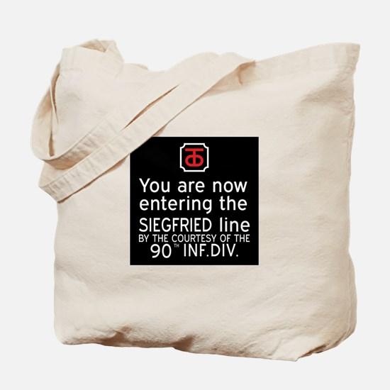 Entering the Siegfried Line, Germany WWII Tote Bag