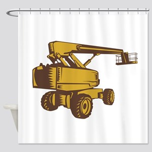 Cherry Picker Mobile Lift Platform Woodcut Shower