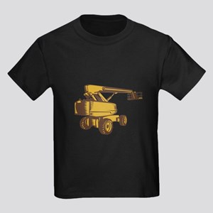 Cherry Picker Mobile Lift Platform Woodcut T-Shirt